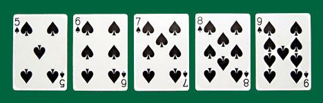 Poker Hands - Straight Flush