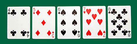 poker hands - straight